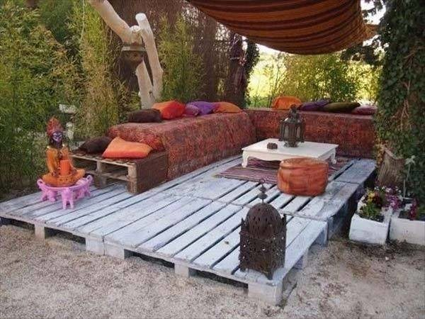 Salon marocain en palette