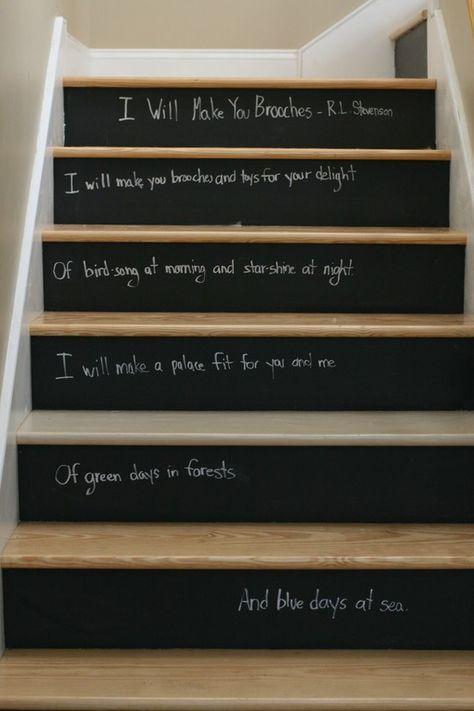 escalier original craie