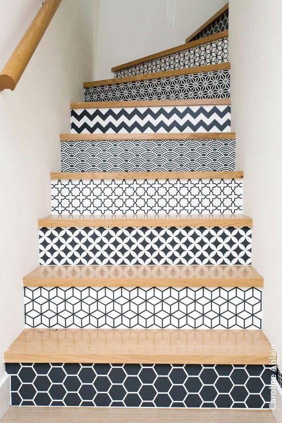 escalier à motif
