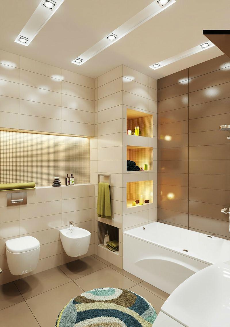 petite-salle-de-bains-toilettes-spots-encastres-baignoire-rectangulaire-tapis-rond