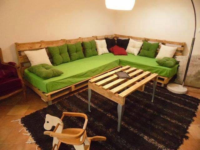Canapé d'angle coloré
