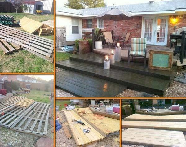 Terrasse escalier en palette bois