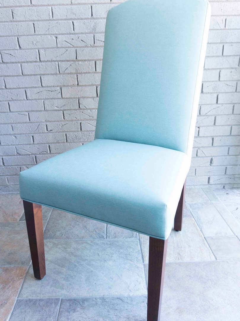 The ease of the seat on the Custom Contract dining chair is not only very comfortable to sit in but gives the user good back support.