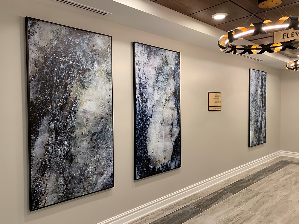 Granite Marble Photography Framed Elevator Lobby