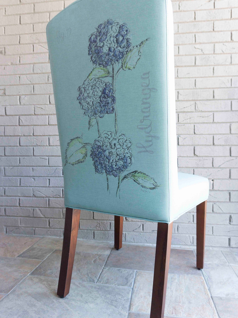 Art on a Chair -- Custom Contract Dining Chair