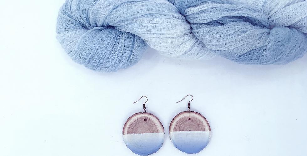 REWOOD EARRINGS / OMBRE / LIGHT BLUE