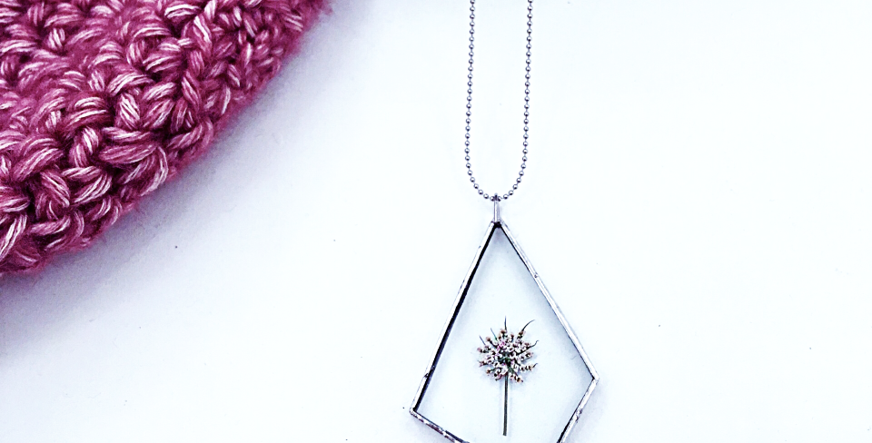 FOREST NECKLACE . COW PARSLEY . SILVER
