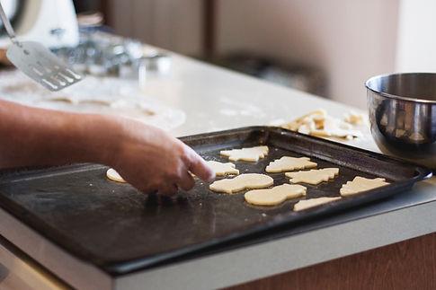Hornear galletas de mantequilla