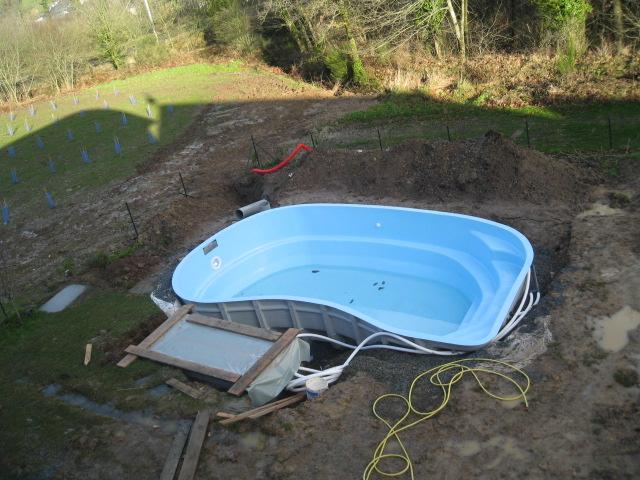 Installation d'une piscine
