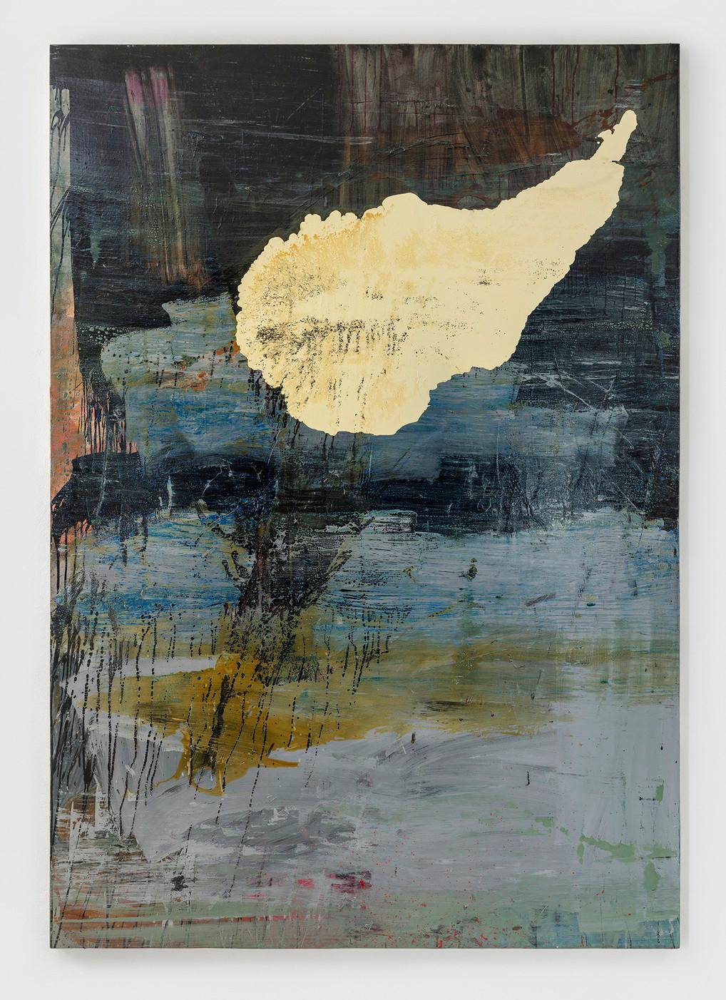 sem título 2018 óleo e esmalte sobre tela 220x160cm