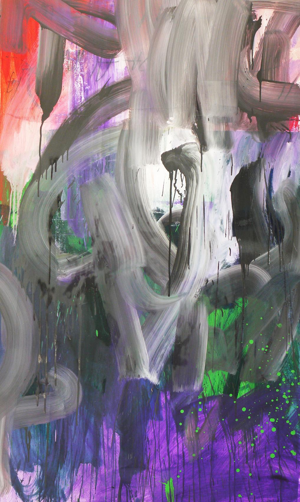 sem título 2016 óleo esmalte sobre papel algodão 150x90cm