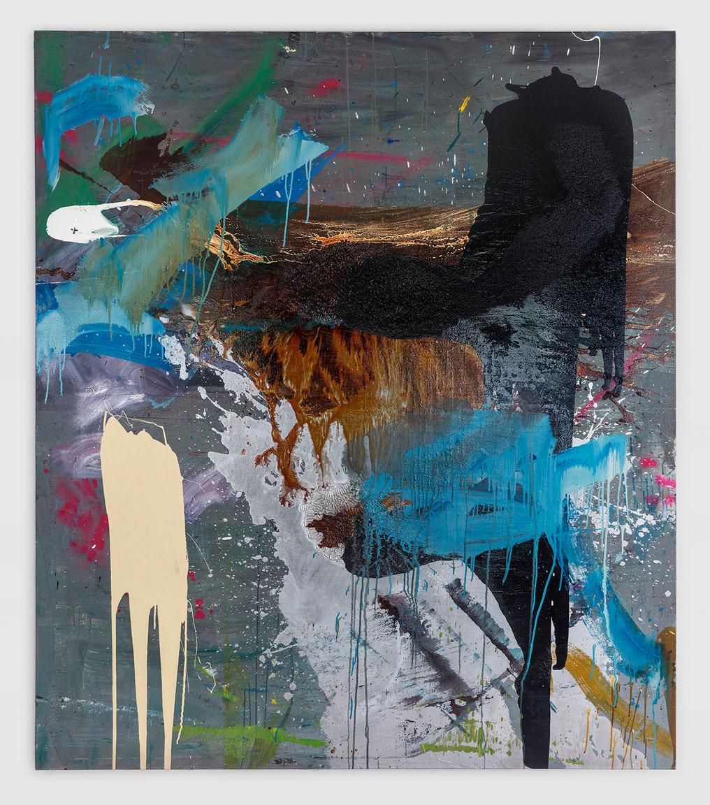 sem título óleo e esmalte sobre tela 190x165cm
