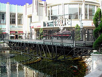 Bill Ferrell Co.'s stage over water at The Grove in Los Angeles