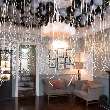 evening reception for wedding balloons