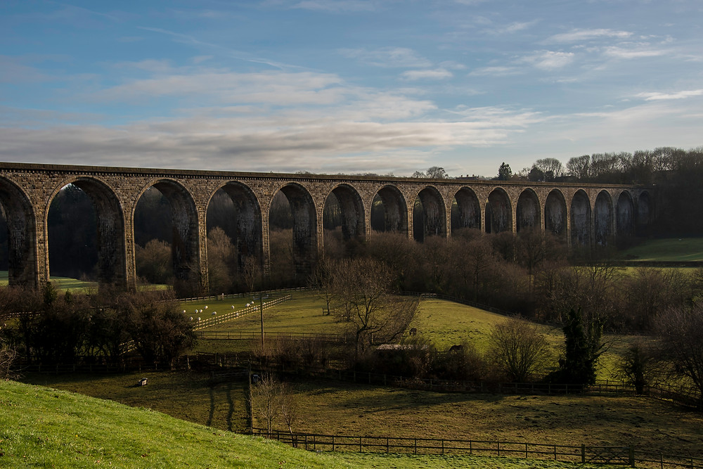 Cefn viaduct in Llangollen, perfect backdrop for any any summer wedding although it's actually the middle of winter!!