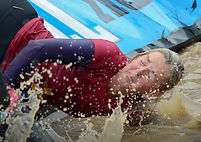 woman at tough mudder action photography