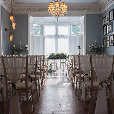 ceremony room before the wedding