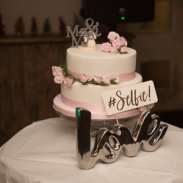 delicious wedding cake with white icing