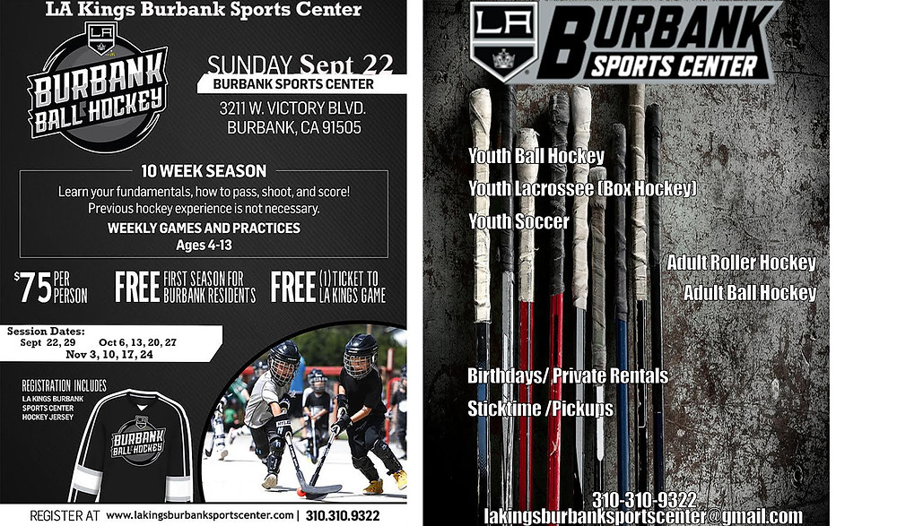 Plese join us for another Fantastic Season of Youth Ball Hockey in Burbank!! First timer Burbank residents recieve free full season!!