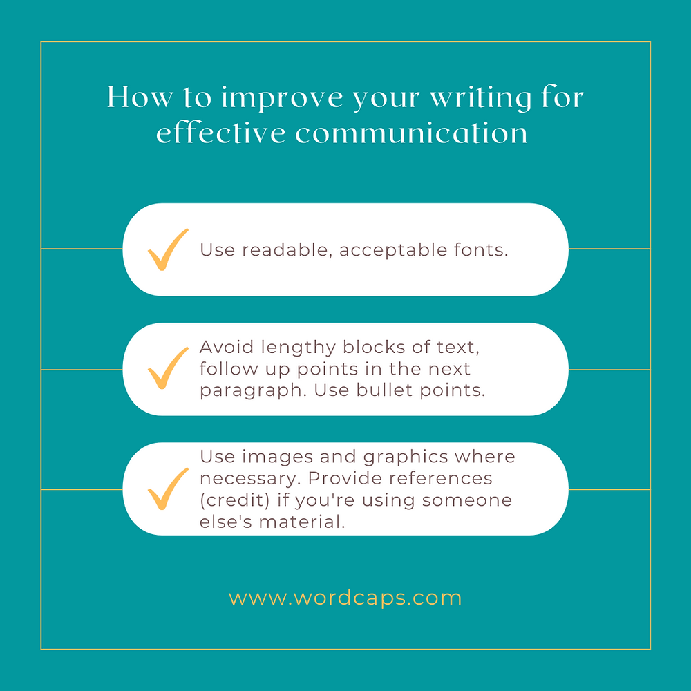 How to improve your writing skills for effective communication.