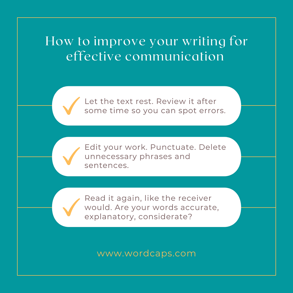 How to improve your writing skills for effective communication