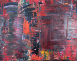 """Geo Red oil on canvas 60""""x48"""""""