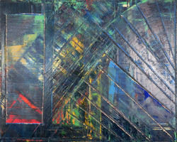 "Geo Blue oil on canvas 60""x48"""