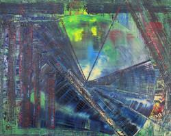 "Geo Green oil on canvas 60""x48"""