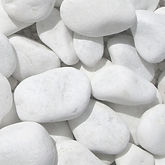 galet marbre blanc