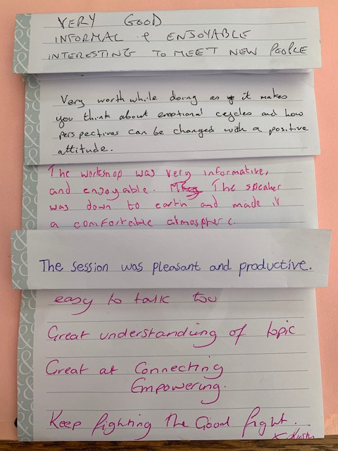 comments from training