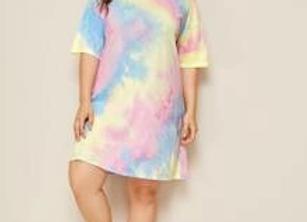 tye dye shirt dress