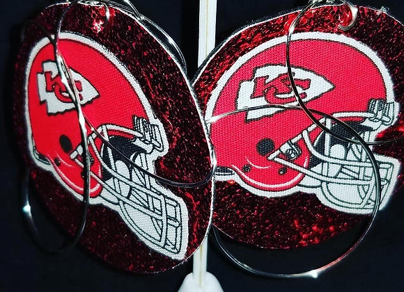 Custom Chiefs Earrings