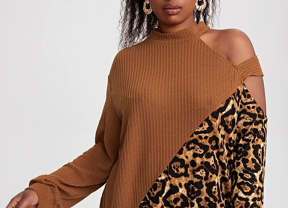 waffle leopard print shirt