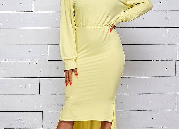 lime hi/lo dress