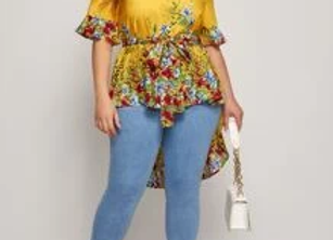 Hi/Lo yellow blouse
