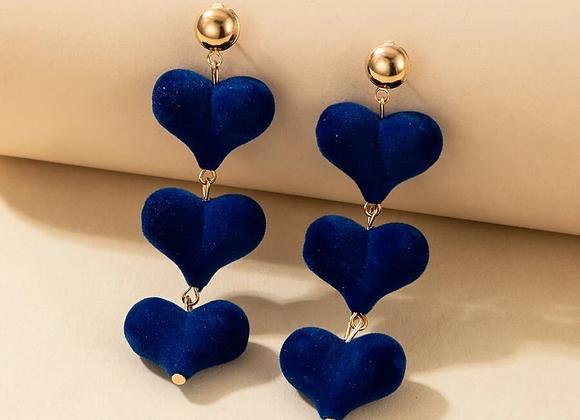 Royal heart earrings