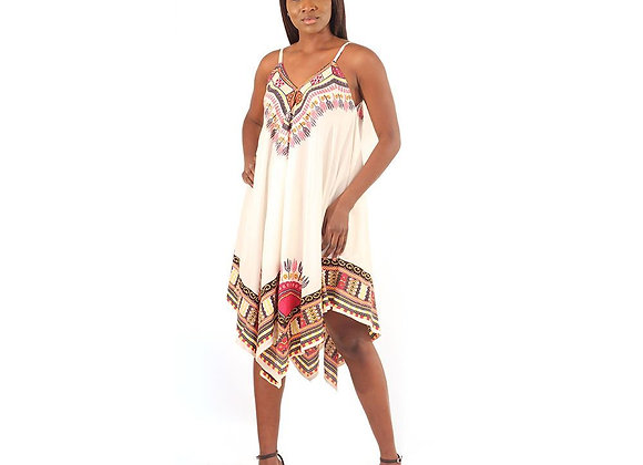 Tribal print Handkerchief dress