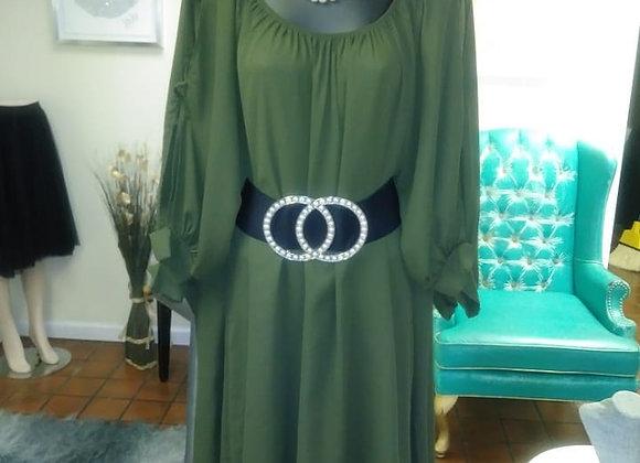 Olive Green Spring Dress