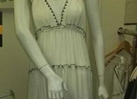 Cream sphagetti strap dress