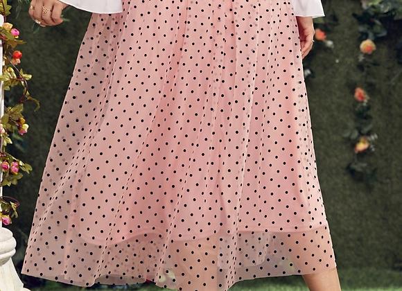 tulle pink polka dot skirt