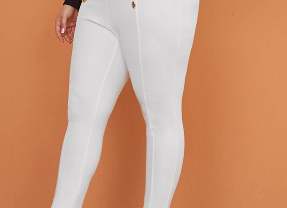 double buttoned skinny pant