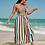 Thumbnail: Beach tube stripe belted dress