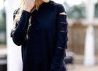 Black ripped sweatshirt