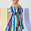Thumbnail: rainbow ruffle dress off shoulder