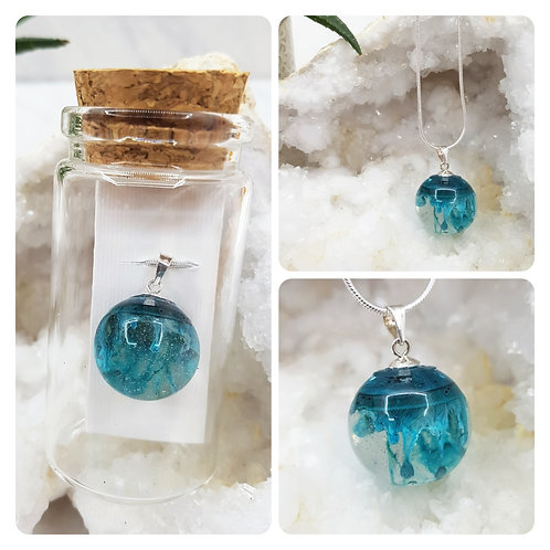 Sterling Silver Resin Necklace