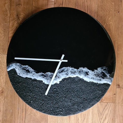 Black Beach Collection Clock