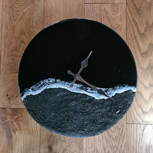 Black Beach Collection Clock