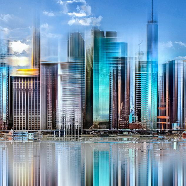 City in motin, New York