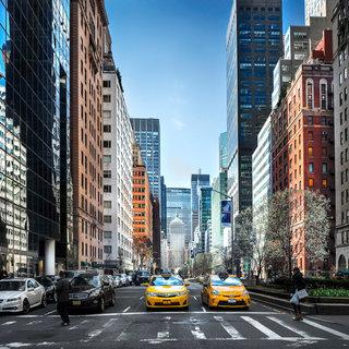2 yellow cabs, NY