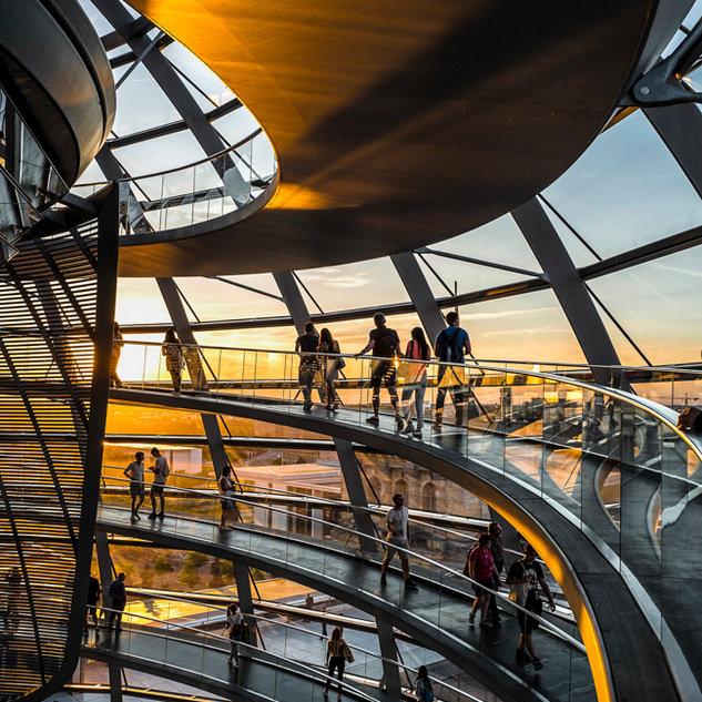 Reichstag courbes, Berlin